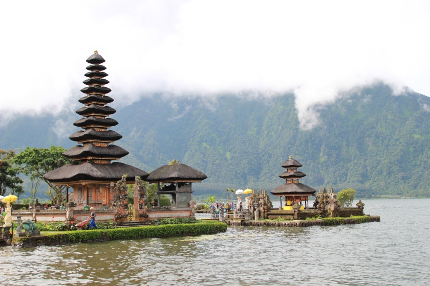 Pura Ulun Danu Bratan. Beautiful but packed with other tourist!