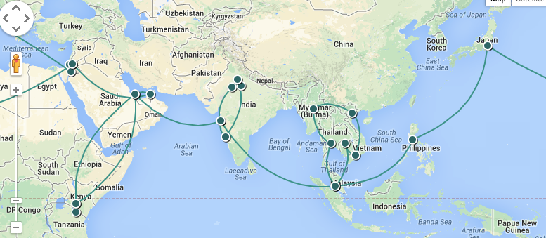 Our OneWorld Explorer RTW Itinerary